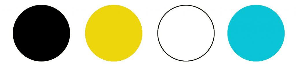 Kolory Widziane przez pszczoły. Pszczoły doskonale widzą tylko cztery kolory: biały, czarny, niebieski i żółty.